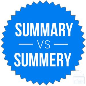 Difference between abstract and summary in report writing
